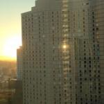 iLand から眺める夕陽